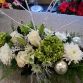 White and Green custom centrepiece