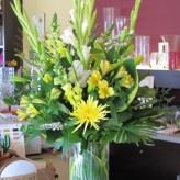 Yellow Tribute Arrangement