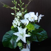 Modern all white arrangement