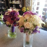 Purples and cream bouquets