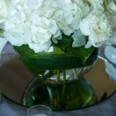 All white Centrepieces