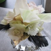 Cymbidium Orchid with Feathers