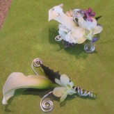 Funky Calla Lily Corsage & Boutonniere