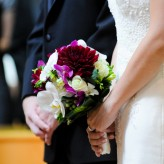 Burgandy beauty bridal bouquet